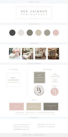 Brand reveal for Dee Jackson Photography | Branding | Brand Board | Logo Design | Graphic Design | Design Inspiration | Logo Ideas | Brand Ideas | Website Design | Color Palette | August and White