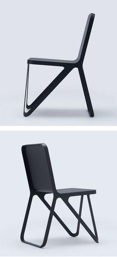 Powder coated steel #chair LOOP CHAIR by NEO/CRAFT #black @NEOCRAFT_Berlin