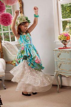 Josie dress pattern with added crinoline. Found in Jennifer Paganelli's Girls World Book.