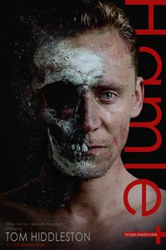 Tom Hiddleston as Hamlet. Edit by larigo.tumblr: http://larygo.tumblr.com/post/163764457841/kenneth-branagh-to-direct-tom-hiddleston-in/ really now, has anyone seen the real poster for the play? I have not.