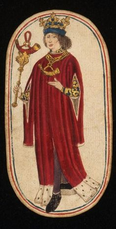 King (4), from the Cloisters set of fifty-two playing cards, ca. 1470–1485, South Netherlandish.