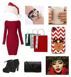 """Christmas!! "" by mezzymezmez on Polyvore featuring Breckelle's, Yves Saint Laurent and Meri Meri"