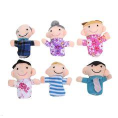 Family Finger Puppets Plush Toys