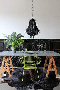 Grey Washed concrete effect Top Dining Table