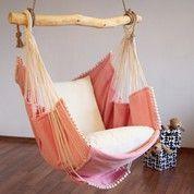 € 250.00 Hammock chair Pink (white cushion)