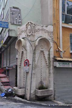 Turkish Architecture, Art Nouveau, Art Deco, Stone Fountains, Mosque, Istanbul, Ottoman, Turkey, Wells