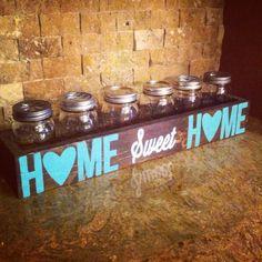 Home Sweet Home mason jar box by BarnOwlCollective