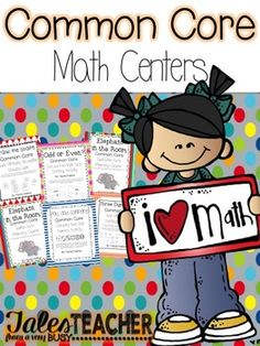 Common Core Math CentersEngage your students with these fun Common Core Math Centers!Odd or Even?CCSS.Math.Content.2.OA.C.3 Determine whether a group of objects (up to 20) has an odd or even number of members, e.g., by pairing objects or counting them by 2s; write an equation to express an even number as a sum of two equal addends.Use this center to help your students practice their understanding of odd and even numbers.