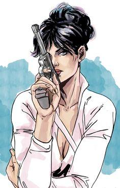 I love Modesty Blaise by MarcLaming.deviantart.com on @deviantART