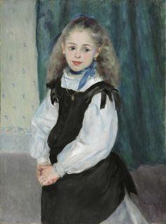 Portrait of Mademoiselle Legrand (1875) by Pierre-Auguste Renoir (1841-1919), French (Philadelphia Museum of Art)