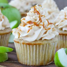 """Caramel Apple Cupcakes | American Heritage Cooking """