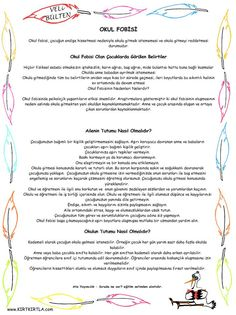 OKUL FOBİSİ School Teacher, Pre School, Learn Turkish, Stories For Kids, Child Development, Preschool Activities, Classroom, Advice, Technology
