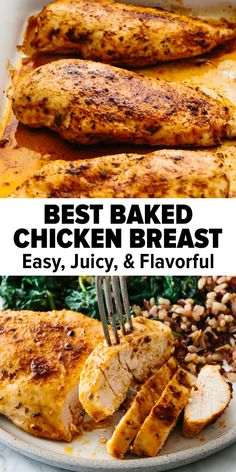 Perfect Baked Chicken, Healthy Baked Chicken, Chicken Breast Recipes Healthy, Baked Chicken Breast, Baked Chicken Recipes, Chicken Breasts, Juicy Baked Chicken, All You Need Is, Real Food Recipes