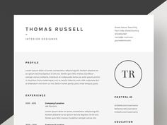 Thomas Russell - Resume/CV Template by Worn Out Media Co. on @creativemarket