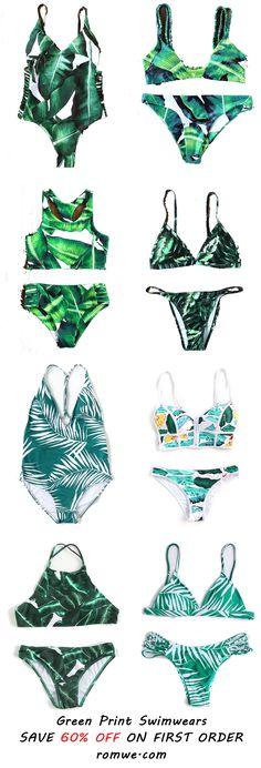 Chic Green Swimwear 2017 -romwe.com