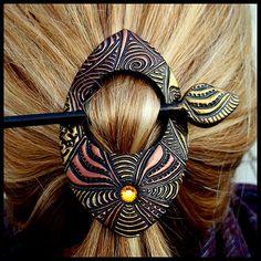 2Goodclaymates handcrafted polymer art Canada | Shawl / Hair Pins
