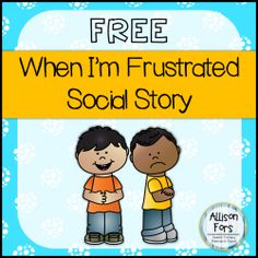Behavior Social Story FREE A social story mini-book on how to handle frustration in color and black & white.FREE A social story mini-book on how to handle frustration in color and black & white. Social Skills Activities, Teaching Social Skills, Therapy Activities, Articulation Activities, Teaching Resources, Social Emotional Development, Social Emotional Learning, Classroom Behavior, Classroom Management