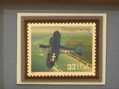 Classic American Aircraft Framed Stamp The by RedBeansnRice, $12.65