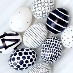 Black & white Easter egg ideas