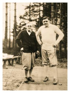 The Bambino Keeps In Trim During Winter Months (Fircrest Golf Club - Tacoma, Washington) - December 20, 1926
