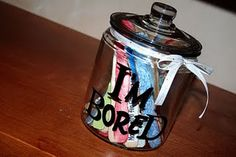 """I'm Bored Jar!!  Things for the kids to do when """"bored"""""""