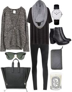 Imagen vía We Heart It https://weheartit.com/entry/142983086/via/5916018 #black #fall #fashion #leggings #outfit #winter
