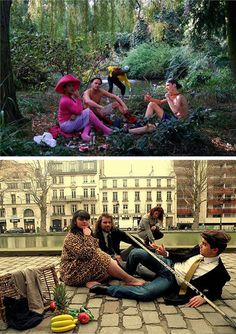 """""""Luncheon on the Grass"""" remake by Zoola Moofoo and Luncheon on the Grass"""" remake by Gizem Karakas"""