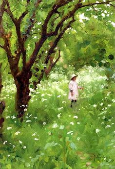 The Orchard ARTIST:	Thomas Cooper Gotch
