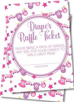 Girls Clothesline Diaper Raffle Tickets Pack Of Diapers, Diaper Raffle Tickets, Clothes Line, Baby Showers, Card Stock, Invitations, Writing, Girls, Prints