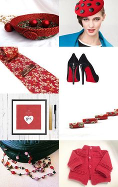 See Red by Paula O'Meara on Etsy- #Etsy #treasury #red #Christmas #bowl #Holiday #red #Basket #Holiday #decoration -Pinned with TreasuryPin.com