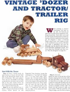 Wooden Toy Trailer Truck Plans - Wooden Toy Plans
