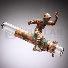 "Snic Glass - Electroplated ""Army Man"" Onie # 4"