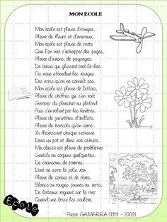 """CM2 : """"Mon école"""" : Une poésie pour la rentrée"""
