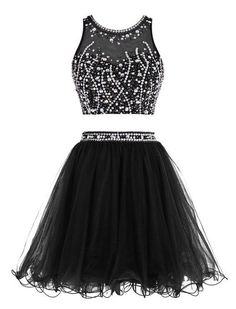 2 Pieces Homecoming Dress,simple Homecoming Dresses,Black Homecoming Gowns,Short Prom Gown,Sweet 16 Dress
