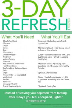 We've done the 3 Day Refresh once every 3 months for about a year now. We are hooked on the whole foods detox because it's simple, includes 3 meals and a snack, and the results are really great.