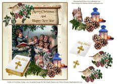 The Choir Sings Christmas Topper decouapge on Craftsuprint - Add To Basket!