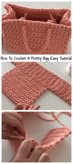 Diy Crochet Bag, Crochet Bag Tutorials, Crochet Cord, Crochet Purse Patterns, Crochet Market Bag, Crochet Gifts, Handbag Patterns, Easy Crochet, Crochet Projects