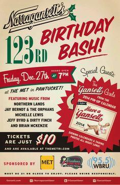 'Gansett's Birthday Bash Poster