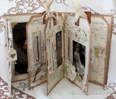Hi, Theresa here with my second A Day in May project!I made a mini album with some old photos of my daughter.Thank you Marianne for the lovely flowers!The letter decorations are made with paper clay and very old foamstamps ;)Love to play with thread and pearls...Many thanks for…