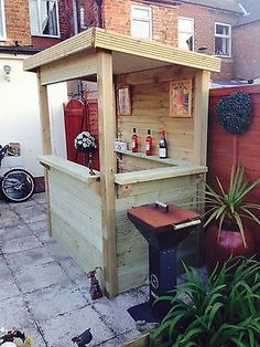 'DECKED OUT' outdoor bar garden pub/ home bar,