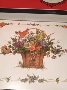 Pimpernel Placemats Flower Basket  Dinner Size  In Original Box Pimpernel Laminated Cork Board by missenpieces on Etsy https://www.etsy.com/listing/267892890/pimpernel-placemats-flower-basket-dinner