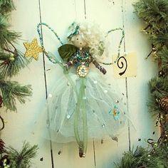 Christmas Fairy, Christmas Angels, Diy Christmas Gifts, All Things Christmas, Christmas Tree Decorations, Christmas Tree Ornaments, Fairy Crafts, Angel Crafts, Felt Fairy