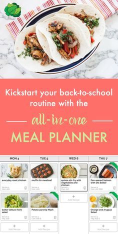"""Get organized this fall with the only meal planning tool that does it all for you: customized menu suggestions based on your diet, drag-and-drop menu editing, a """"smart"""" shopping list that combines all weekly ingredients, pantry management system, and optional grocery delivery (in select areas). You'll save time, save money, and eat better. Start your free trial today!"""