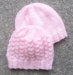 PREMATURE BABY HATS A set of hats for premature babies. There are eight different hats to knit and instructions are given for knitting the hats Baby Hat Knitting Pattern, Baby Hat Patterns, Baby Hats Knitting, Knitting For Kids, Knitting Patterns Free, Knit Patterns, Free Knitting, Knitted Hats, Knitting Needles