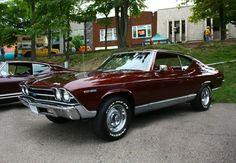 1969 Chevrolet Chevelle. Mine was Dark Green with Black Vinyl Top