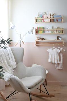 Baby Bedroom, Baby Room Decor, Room Baby, Baby Room Girls, Girl Nursery Decor, Ikea Baby Room, Childs Bedroom, Nursery Room, Rocking Chair Nursery