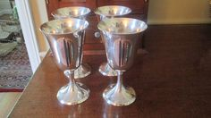 Set Of 4 Stieff Sterling Goblets from topdraw on Ruby Lane