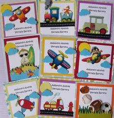 Tarjetas de presentación para niños. Facebook Crafts by Iris  @craftsbyiris