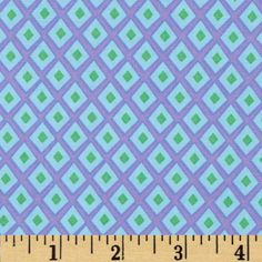 Michael Miller Origami Oasis Spot Lavender from @fabricdotcom  Designed by Tamara Kate for Michael Miller, this cotton print is perfect for quilting, apparel and home decor accents.  Colors include green, aqua and purple.