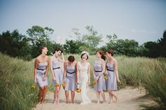 chevron bridesmaid dresses. . . . how cute!